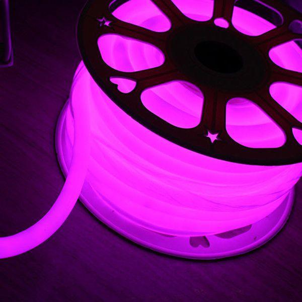 Mangueira Neon De LED Flexível 12V - Rolo com 50 Metros - Rosa