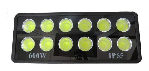 Refletor Holofote De LED Com Lente 600W - Branco Frio - IP65