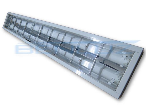 Luminária Comercial de Sobrepor LED c/Aletas - 2x9w