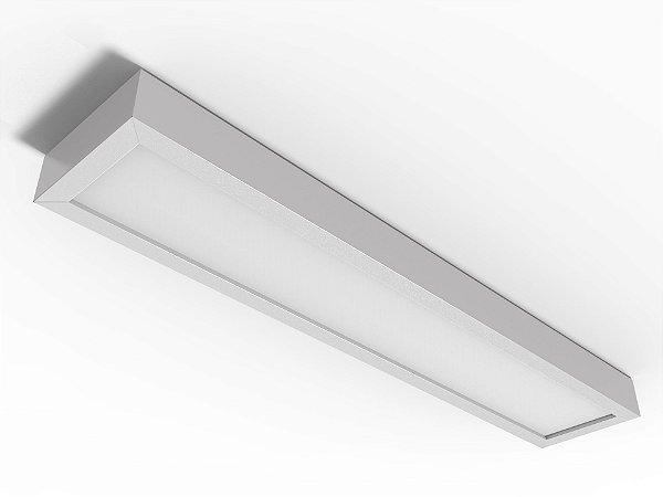 Luminária Comercial de Sobrepor LED c/Difusor - 2x18w