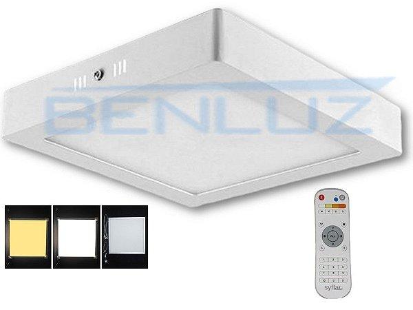 Painel Plafon Dimerizável LED 24W  Quadrado de Sobrepor