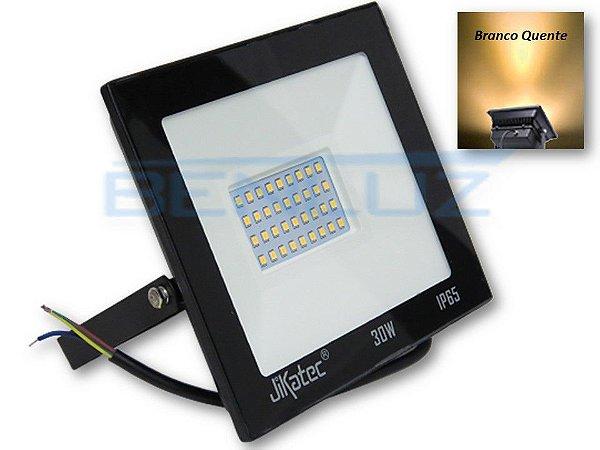 Refletor Holofote De LED 30W - Branco Quente A Prova d'água