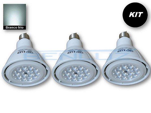 𝐊𝐈𝐓 - 3 Lâmpada LED PAR30 12W  - Branco Frio