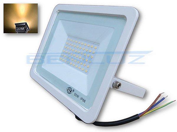 Refletor Holofote De LED 50W Branco - Branco Quente A Prova d'água