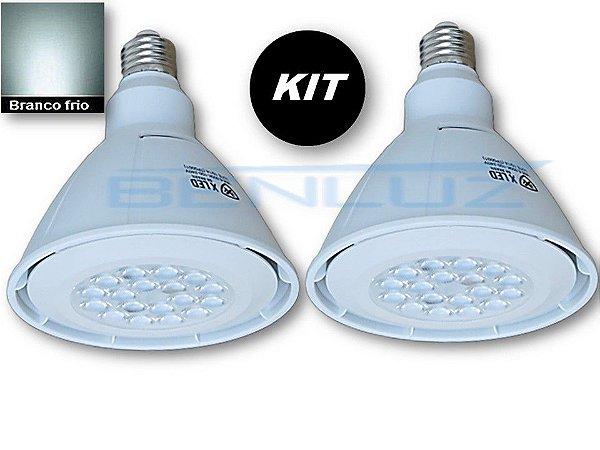 𝐊𝐈𝐓 - 2 Lâmpada LED PAR38 18W Branco Frio