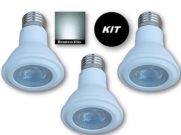 𝐊𝐈𝐓 - 3 Lâmpada LED PAR20 7W  - Branco Frio