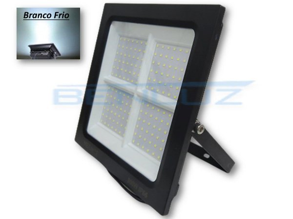 Refletor Holofote LED 300W - Mini Branco Frio A prova d'água