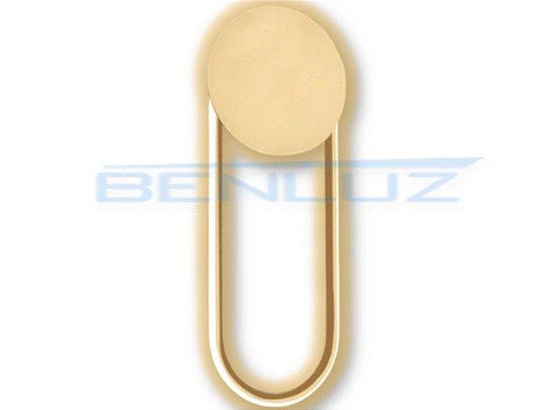 Arandela 46×18×3.7cm Dourado Fosco Aluminio+acrilico LED 16W 3000k Bivolt