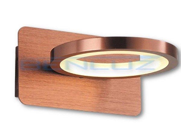Arandela 16×9×17.8cm Marrom Aluminio+acrilico LED 6W 3000k Bivolt
