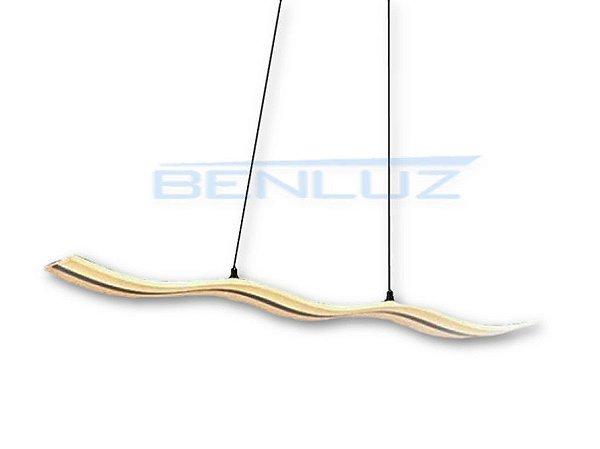 Pendente 118×12×120cm Acrilico Branco LED 40W 3000k Bivolt