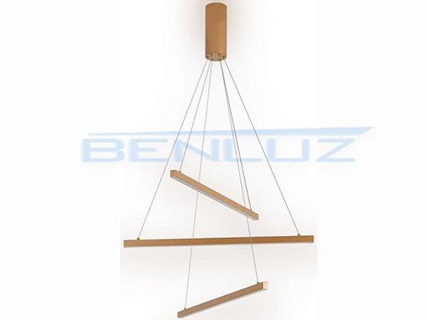 Pendente 66×120cm Acrilico Dourado LED 36W 3000k Bivolt