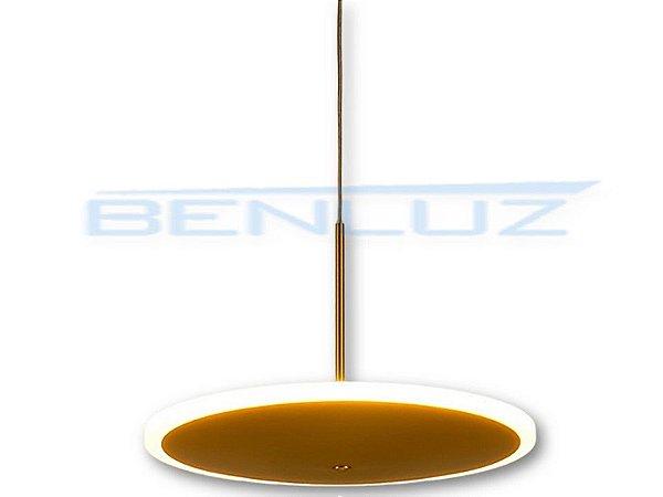 Pendente 40×150cm Dourado Fosco Aluminio+acrilico LED 16W 3000k Bivolt
