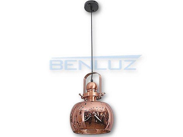 Pendente 25×34cm Bronze Vidro E27