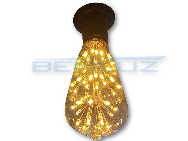 Lâmpada LED 3W ST64S Filamento BIVOLT