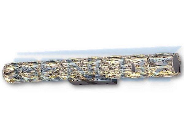 Arandela Retangular C45×l7cmcm Aluminio e Cristal 14W 3000k 1050lm Bivolt