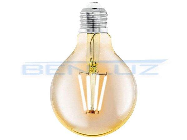 Lâmpada LED 4,5W G80 Filamento Bivolt