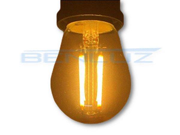 Lâmpada Bubo LED 2W Mini Bolinha Filamento Branco Quente Bivolt