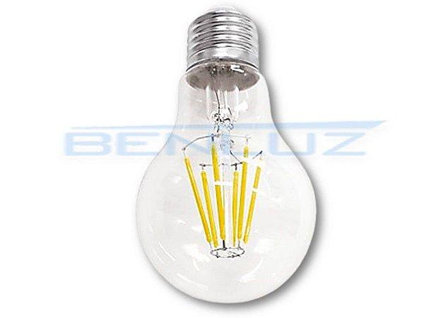 Lâmpada Bulbo LED 6W A60 Filamento Branco Frio Bivolt