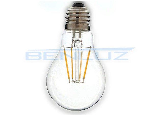 Lâmpada Bubo LED 6W A60 Filamento Branco Quente Bivolt