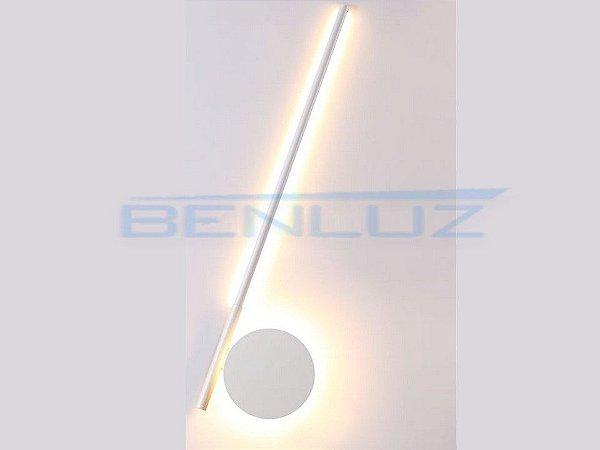 Arandela 19×3,5×a60cm Branco Aluminio Aclirico LED 16W 3000k Bivolt