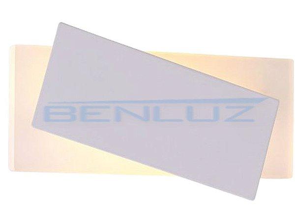 Arandela 20×11×a5cm Aluminio Aclirico LED 7W 3000k 540lm Bivolt
