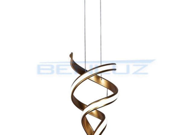 Pendente 30cm Metal e Silicone Dourado LED 30W 4000k 3000lm Bivolt