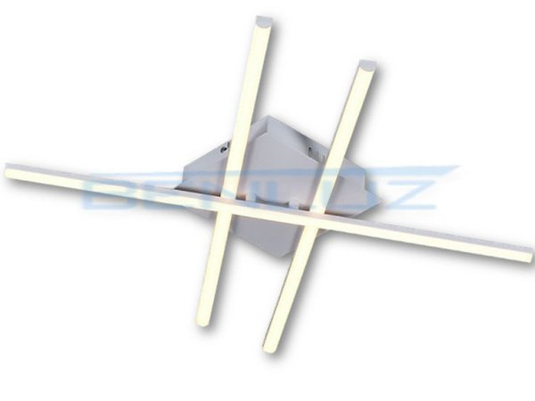 Plafon 54×54×6cm Metal e Silicone Led Branco 28W 3000k Bivolt