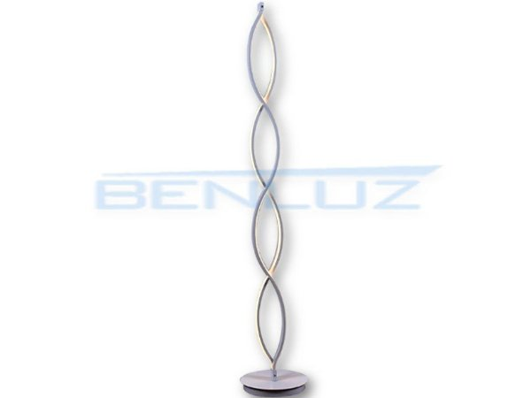 Coluna 22×142cm Metal e Silicone Led Branco 46w 3000k Bivolt