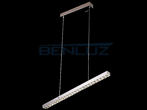 Pendente Retangular 80×7cm Cristal Led 60w 6000k 3000lm Bivolt
