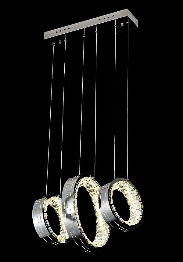 Pendente 20×30×20cm Cristal Furtacor Led 84w 6000k 8600lm Bivolt