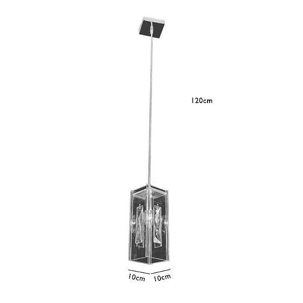 Pendente C10×l10cm Cristal E14×1