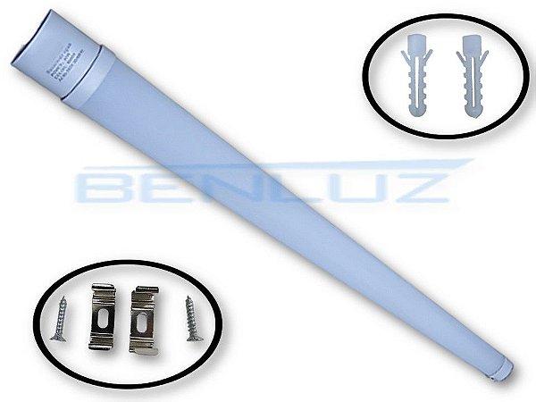 Luminária LED Linear de sobrepor 40W Branco Frio 123cm a prova d' água