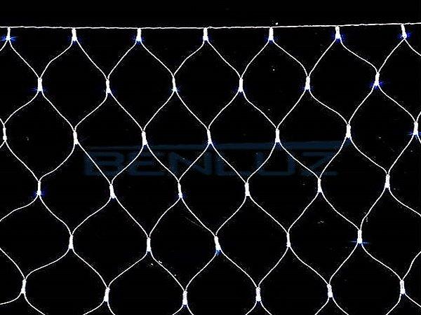Rede 320 LEDs Fio Branco 2,5x2 Metros Branco Frio 220V