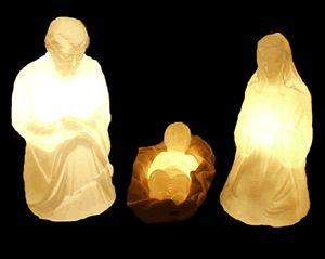 Sagrada Família 3 peças Maria, José e Jesus - Marfim