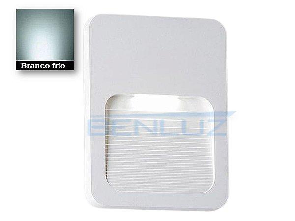 Arandela LED Branca 2W Branco Frio 6000K