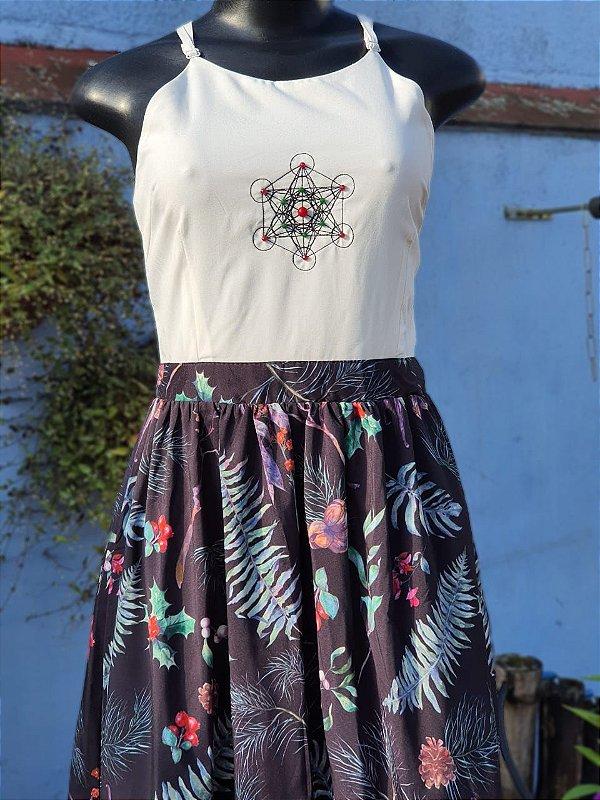 Vestido Floral Cubo de Metatron