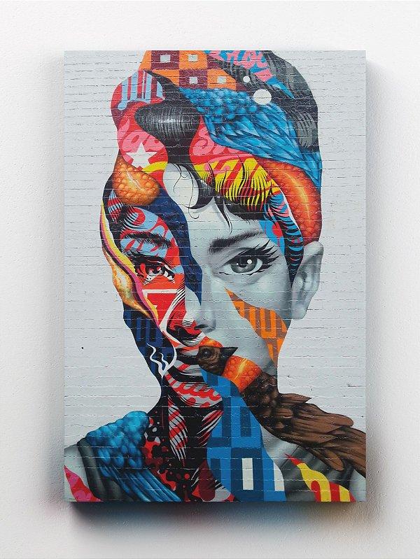 Quadro Audrey Hepburn Street Art