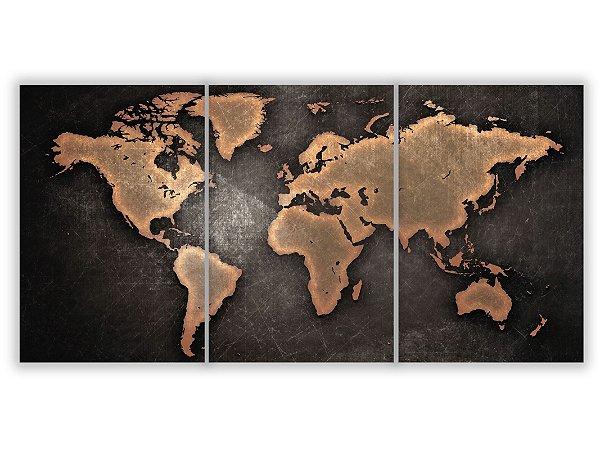 Tela Canvas Mapa Mundi