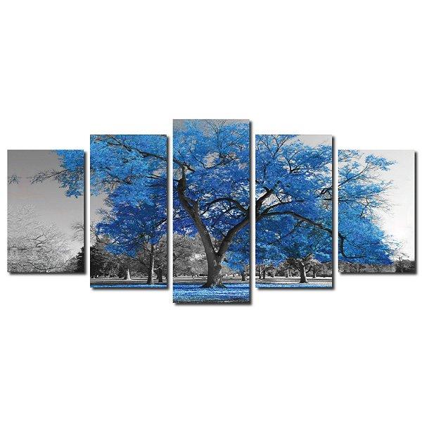 Árvore da Vida - Azul (Mosaico 5 peças)