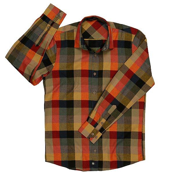 Camisa Flanela Xadrez Manga Longa