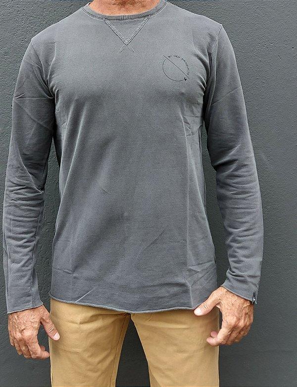 Camiseta Estonada Manga Longa Corte a Fio CW CRAFTED