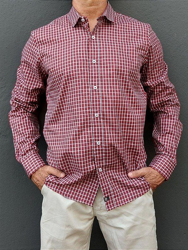 Camisa ML Xadrez Vermelho