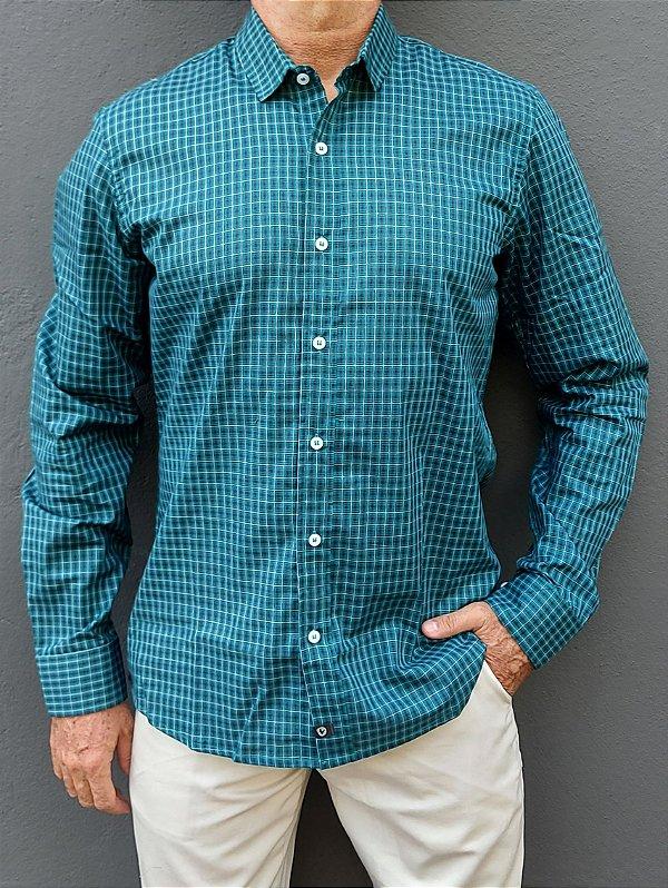 Camisa ML Xadrez Verde