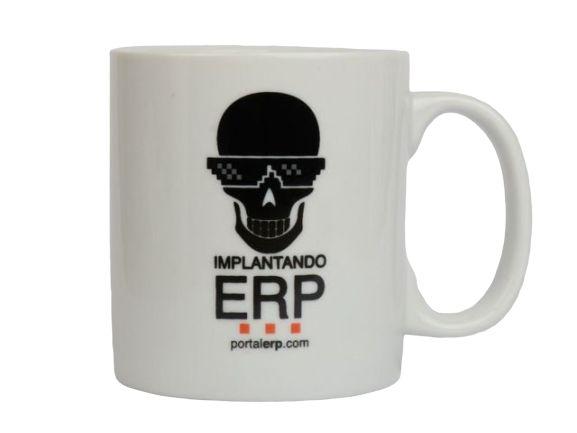 """Caneca """"Implantando ERP"""" 320ml"""