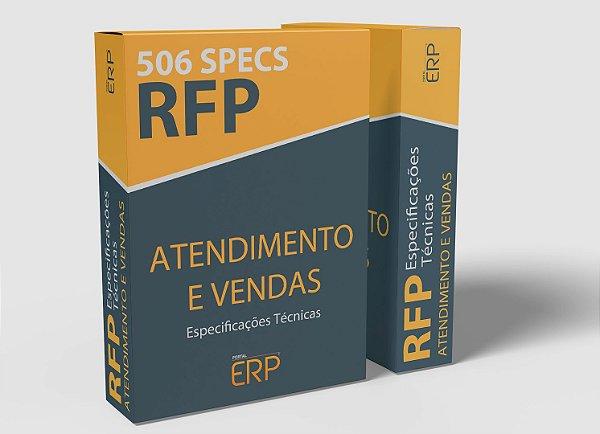 RFP Atendimento e Vendas | Especificações técnicas Vendas e Atendimento | 506 specs