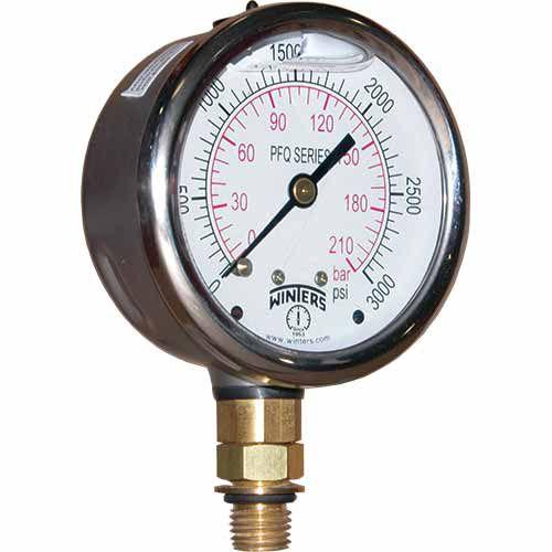 Manômetro INOX D.100/Esc. 0-200 bar e 0-3000 PSI