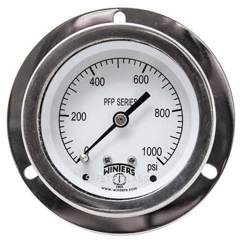 Manômetro INOX D.60/Esc. 0-700 bar e 0-10000 PSI