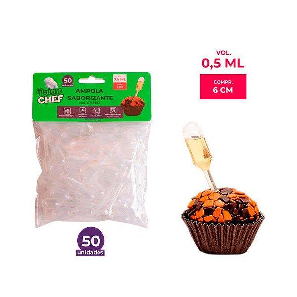 Ampola Saborizante Cilindro 0,5ml Prime Chef - 50und