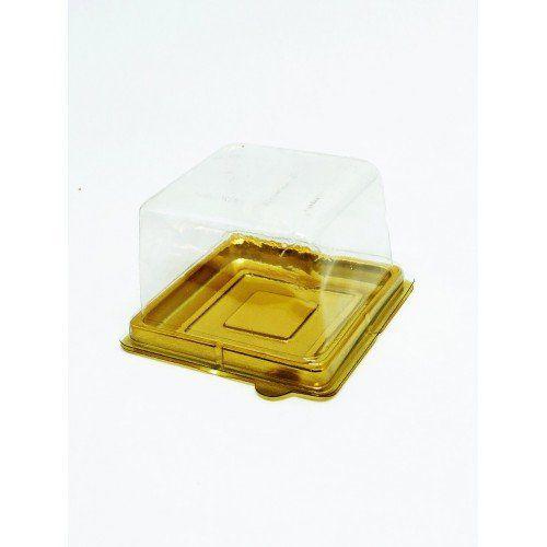 MINI CAKE BOX QUADRADA OURO - FLIP
