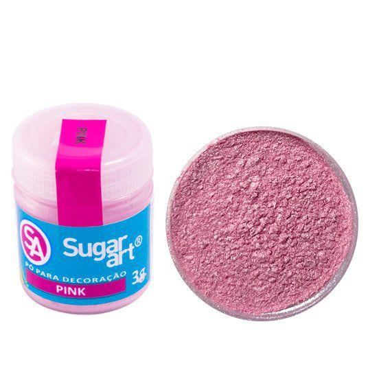 Pó Sugar Art Decoração Pink 3g